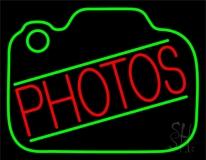 Red Photos Camera Neon Sign