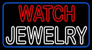 Red Watch White Jewelry Neon Sign