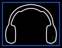 White Headphone Neon Sign