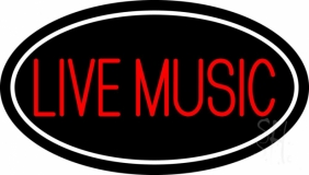 Block Live Music Red 2 Neon Sign