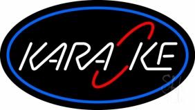 Blue Karaoke 2 Neon Sign