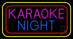 Karaoke Night Colorful Neon Sign