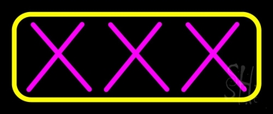 Pink Xxx LED Neon Flex Sign