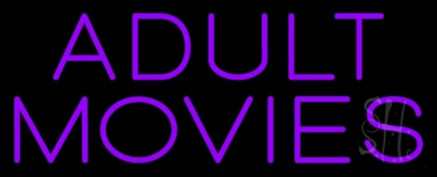 Purple Adult Movies LED Neon Sign