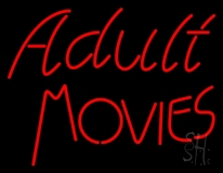 Red Adult Movies LED Neon Sign
