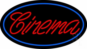 Red Cursive Cinema LED Neon Sign