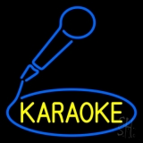 Yellow Karaoke With Mike Logo Neon Sign