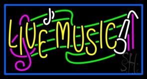 Yellow Live Music Block Neon Sign
