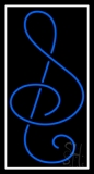Blue Music Note Neon Sign