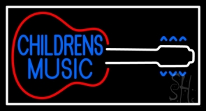 Childrens Music Neon Sign