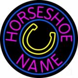 Custom Pink Horseshoe Neon Sign
