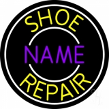 Custom Yellow Shoe Repair Neon Sign