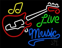 Live Green Music Blue 2 Neon Sign