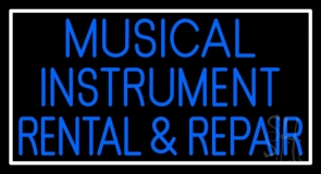 Musical Instruments Rental And Repair Neon Sign