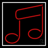 Music Note Red Neon Sign