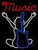 Music Silhouette 2 Neon Sign