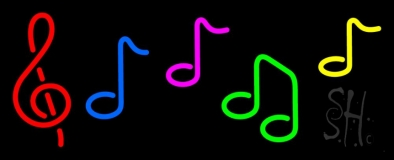 Notes Music Neon Sign