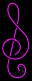 Pink Music Note 1 Neon Sign