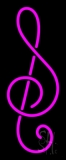 Pink Music Note Neon Sign