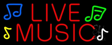 Red Live Music 1 Neon Sign