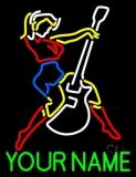 Custom Guitar Logo Neon Sign
