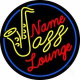Custom Yellow Jazz Blue Border Neon Sign