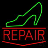 Green Sandal Red Repair Neon Sign