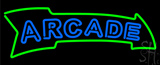 Blue Double Stroke Arcade Neon Sign
