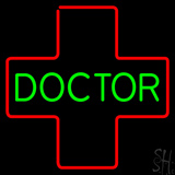 Green Doctor Medical Logo Neon Sign