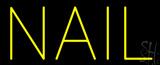 Yellow Nail Block Neon Sign