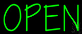 Green Open Neon Sign