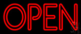 Red Double Stroke Open Neon Sign