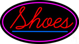 Red Shoes Pink Oval Neon Sign