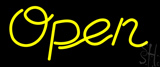 Yellow Open Neon Sign