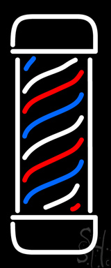 Vertical Barber Pole Neon Sign