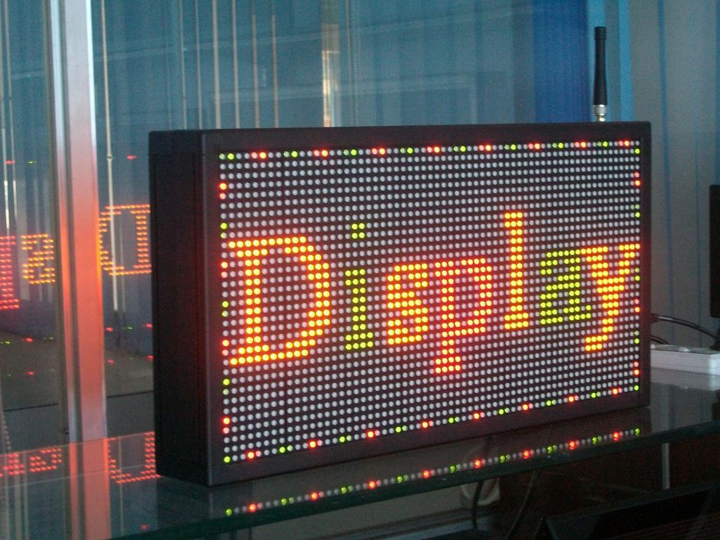 Indoor Programmable & Scrolling - TRI-COLOR LED SIGN